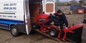 garden tractor transport example